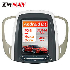 cheap Cell Phones-ZWNAV 10.4 inch 1 Din Android 8.1 Tesla style 4GB 64GB Car GPS Navigation radio tape recorder In-Dash Car DVD Player Car multimedia player For Buick lacrosse 2018-2014