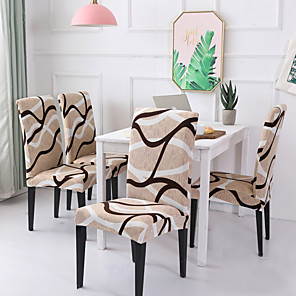 cheap Chair Cover-Chair Cover Striped / Print / Contemporary Printed Polyester Slipcovers
