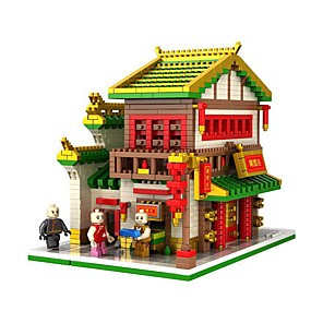 cheap Building Blocks-Building Blocks 1800+ Architecture compatible ABS+PC Legoing 3D Cartoon Simulation All Toy Gift / Kid's