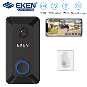 cheap Video Door Phone Systems-EKEN V6 Smart WiFi Video Doorbell with 1*Chime