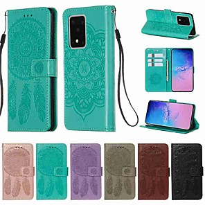 cheap Samsung Case-Case For Samsung Galaxy S20 / S20 Plus / S20 Ultra Wallet / Card Holder / with Stand Full Body Cases Solid Colored PU Leather / TPU for A50(2019) / A40(2019) / A30(2019) / Note 10 Pro