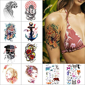 cheap Tattoo Stickers-1 pcs Temporary Tattoos Water Resistant / Waterproof / Safety / Best Quality Face / Body / Hand Water-Transfer Sticker Body Painting Colors