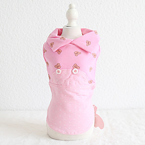 cheap Dog Clothes-Dog Costume Dress Dog Clothes Breathable Rose Gold Yellow Blue Wedding Costume Beagle Bichon Frise Chihuahua Cotton Character Embroidered Love Casual / Sporty Cute XS S M L XL