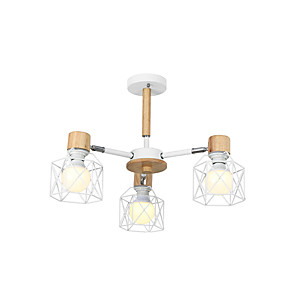 cheap Indoor Wall Lights-3-Light 62 cm Lantern Desgin Pendant Light Metal Lantern Painted Finishes Nordic Style 110-120V 220-240V