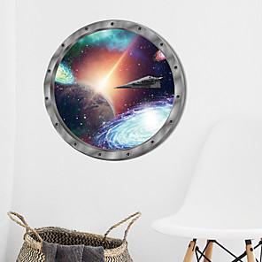 cheap Wall Stickers-Cosmic Space Wall Sticker Galaxy Star Bridge Home Decoration for Kids Room Living Room Wall Decals Home Decor / Toilet Seat Wall Sticker Art Bathroom Decals Decor