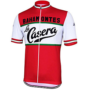 cheap Cycling Jerseys-21Grams Men's Short Sleeve Cycling Jersey Red / White Austria National Flag Bike Jersey Top Mountain Bike MTB Road Bike Cycling UV Resistant Breathable Quick Dry Sports Clothing Apparel / Stretchy