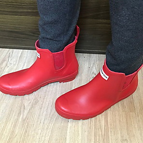 cheap Women's Boots-Women's Boots Flat Heel Round Toe PVC Mid-Calf Boots Spring &  Fall Black / Purple / Green