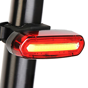 cheap Bike Lights & Reflectors-LED Bike Light Rear Bike Tail Light Safety Light Tail Light Mountain Bike MTB Bicycle Cycling Waterproof Portable Cute Quick Release Rechargeable Lithium-ion Battery 120 lm Color-changing Camping
