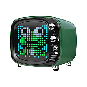 cheap Portable Speakers-Divoom Tivoo Portable Bluetooth speaker Smart Clock Alarm Pixel Art DIY by App LED Light Sign in decoration Unique gift