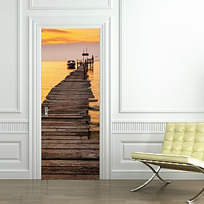 cheap Wall Stickers-Landscape Wall Stickers Plane Wall Stickers Decorative Wall Stickers, PVC Home Decoration Wall Decal Wall Decoration 2pcs