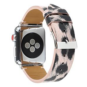 cheap Smartwatch Bands-Silver Leopard Watch Band for Apple Watch Series 4 / Apple Watch Series 3 / Apple Watch Series 2 Apple Sport Band Genuine Leather Wrist Strap