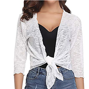 cheap Other Phone Case-Women's Solid Colored Blouse Daily V Neck White / Black / Gray