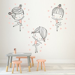 cheap Wall Stickers-Cover Dancing Girls Decorative Wall Stickers - Plane Wall Stickers  Princess Nursery / Kids Room