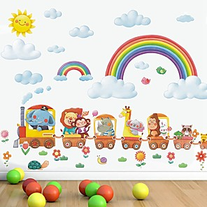 cheap Wall Stickers-Rainbow Decorative Wall Stickers - Plane Wall Stickers Nursery / Kids Room