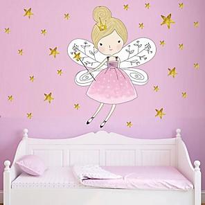 cheap Wall Stickers-Decorative Wall Stickers - Plane Wall Stickers Princess / Fairies /  Stars Nursery / Kids Room