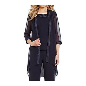 cheap Wedding Wraps-3/4 Length Sleeve Coats / Jackets Chiffon Wedding Women's Wrap With Splicing