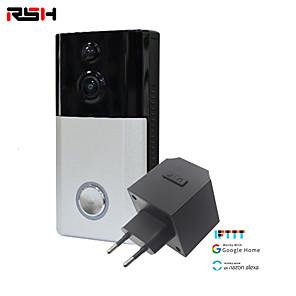 cheap Video Door Phone Systems-RSH Smart Doorbell Camera Wireless Wifi Video Intercom Doorbell Video Call Apartment Infrared Alarm Wireless Color Lens Security