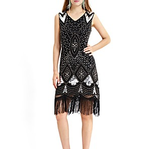 cheap Latin Dancewear-Latin Dance Dress Tassel Paillette Women's Performance Sleeveless Terylene