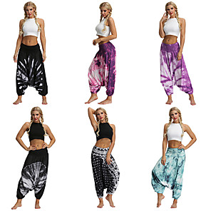 cheap Dancing Costumes-Women's Dancer Yoga Meditation Masquerade Boho Exotic Dancewear Polyster Purple Light Purple Black Pants