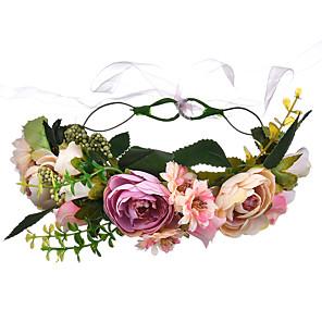 cheap Costumes Jewelry-Headbands Headband Ancient Greek Satin For Bride Athena Goddess Cosplay Halloween Carnival Women's Girls' Costume Jewelry Fashion Jewelry