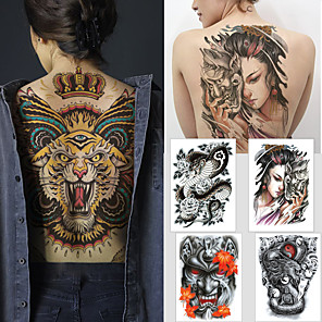cheap Tattoo Stickers-1 pcs Temporary Tattoos Water Resistant / Waterproof / Safety / Best Quality Body / Back Water-Transfer Sticker Body Painting Colors