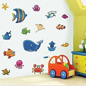 cheap Wall Stickers-Decorative Wall Stickers - Plane Wall Stickers Fish / Sea Nursery / Kids Room