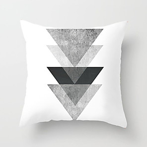 cheap Pillow Covers-1 pcs Polyester Pillow Cover Nordic Black-and-White Throw Pillow Case INS Style Modern Simple Geometric Plaid Stripe Pillow Sofa Bedroom Headrest Cushion
