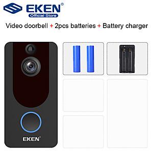 cheap Video Door Phone Systems-EKEN V7 HD 1080P Smart WiFi Video Doorbell Camera Visual Intercom Night vision IP Door Bell Wireless Security Camera