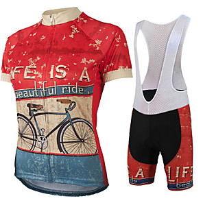 cheap Cycling Jersey & Shorts / Pants Sets-21Grams Men's Short Sleeve Cycling Jersey with Bib Shorts Fuchsia Bike Clothing Suit UV Resistant Breathable Quick Dry Sports Graphic Mountain Bike MTB Road Bike Cycling Clothing Apparel / Stretchy
