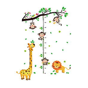 cheap Wall Stickers-The Monkey Measures Your Height Height Stickers - Animal Wall Stickers Animals / Floral / Botanical Living Room / Indoor