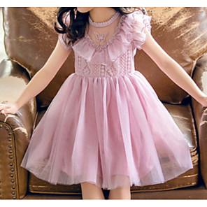 cheap Girls' Dresses-Kids Girls' Solid Colored Dress Purple