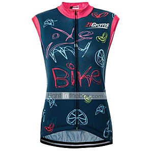 cheap Cycling Jerseys-21Grams Women's Sleeveless Cycling Jersey Red+Blue Bike Jersey Top Road Bike Cycling Breathable Quick Dry Sweat-wicking Sports Clothing Apparel / Micro-elastic / Race Fit / Italian Ink