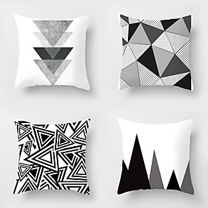 cheap Pillow Covers-4 pcs Throw Pillow Simple Classic 45*45 cm  Cushion Vintage Circle Cover Sofa Home Decor Throw Pillow Case