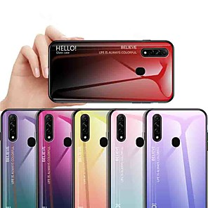 cheap Other Phone Case-Case For OPPO OPPO Reno2 / OPPO Reno2 Z / OPPO R11 Plus Shockproof / Ultra-thin Back Cover Color Gradient Tempered Glass