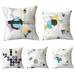 cheap Christmas Decorations-Set of 5 Throw Pillow Simple Classic 45*45 cm   Cushion Vintage Circle Cover Sofa Home Decor Throw Pillow Case