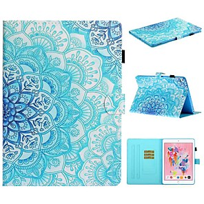 cheap iPad case-Case For Apple iPad Air / iPad (2018) / iPad 10.2''(2019) Card Holder / with Stand / Flip Full Body Cases Flower PU Leather For iPad Pro 10.5/iPad Air 2/iPad 2017