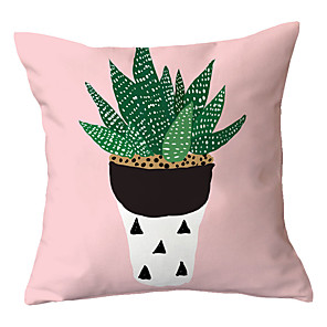 cheap Pillow Covers-1 pcs Polyester Pillow Cover Nordic Ins Light Pink Sofa Living Room Pillow Cushion Office Pillow Car Lumbar Cushion Cover