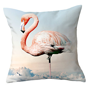 cheap Pillow Covers-1 pcs Polyester Pillow Cover Little Qingxin Flamingo Pillow Case INS Nordic Cute Girl Heart Bedside Living Room Sofa Cushion Pillow