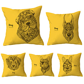 cheap Sale-5 pcs Throw Pillow Simple Classic 45*45 cm Cushion Vintage Circle Cover Sofa Home Decor Throw Pillow Case