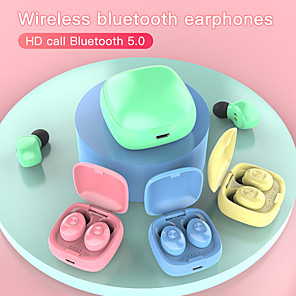 cheap TWS True Wireless Headphones-Color XG12 TWS Bluetooth 5.0 Earphones Wireless Waterproof Mini In-ear HIFI Headset for wearable devices