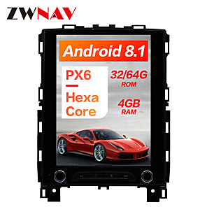 cheap Car DVD Players-ZWNAV 10.4 inch 1DIN Android 8.1 4GB 64GB DSP PX6 Vertical screen In-Dash Car DVD Player Car GPS navigation Car multimedia player radio tape recorder For Renault KOLEOS / megane 4