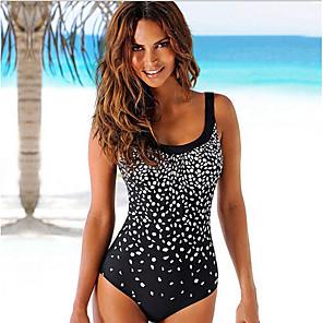 cheap Clutches & Evening Bags-Women's Black Bikini Swimwear Swimsuit - Geometric M L XL Black