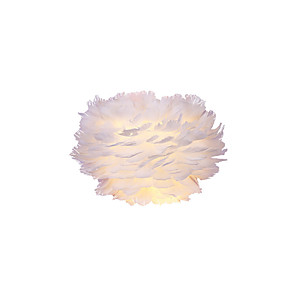 cheap Indoor Wall Lights-Nordic Wall Lamp Contracted Contemporary Sitting Room Setting Wall Originality Children Room Bedside Lamp Feather Wall Lamp