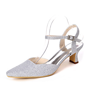 cheap Wedding Shoes-Women's Wedding Shoes Block Heel Square Toe Synthetics Minimalism Spring & Summer Light Purple / Champagne / White / Party & Evening