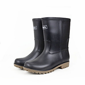 cheap Shoes Covers & Rainshoes-Men's PVC Spring & Summer Boots Waterproof Booties / Ankle Boots Black
