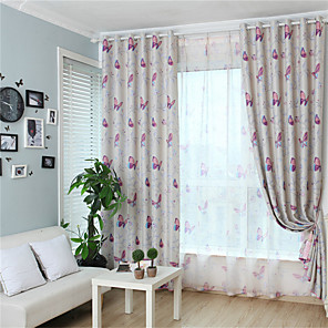 cheap Curtains Drapes-Gyrohome 1PC Butterflies Shading High Blackout Curtain Drape Window Home Balcony Dec Children Door *Customizable* Living Room Bedroom Dining Room