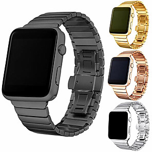 cheap Smartwatch Bands-Fashion Stainless steel strap For Apple watch band 44mm/40mm apple watch 5 3 4 band iwatch 42mm 38mm Luxury Link bracelet belt