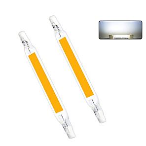cheap Car Headlights-1pc 10 W LED Bi-pin Lights 1000 lm R7S T 1 LED Beads COB Warm White Cold White 220-240 V 110-130 V