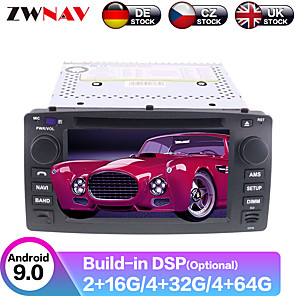cheap Car DVD Players-ZWNAV 7inch 2din Auto stero Android 9 4G 64GB Car GPS Navigation Car DVD player car Multimedia Player Radio tape recorder For Toyota Corolla EX 2001-2006