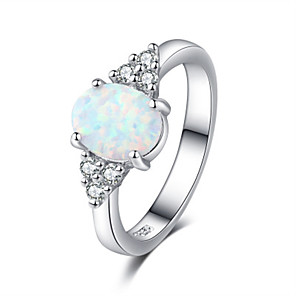 cheap Necklaces-Women's Ring AAA Cubic Zirconia 1pc Silver Platinum Plated Alloy Stylish Wedding Gift Jewelry Cute / Daily / Engagement